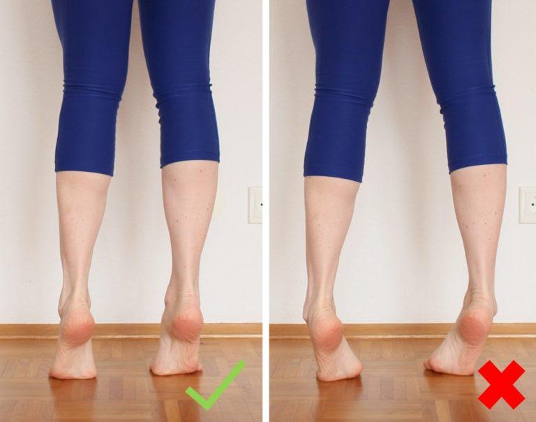 Schmerzen Achillessehne: Wadenheben beidbeinig richtige Ausführung