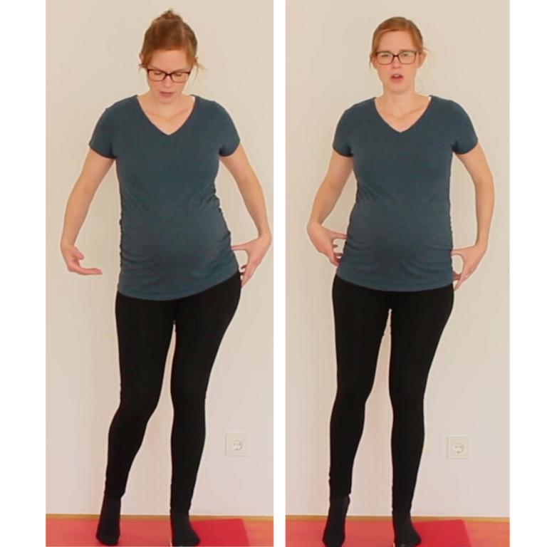 Patellaspitzensyndrom Aktivierung Abduktoren Stand