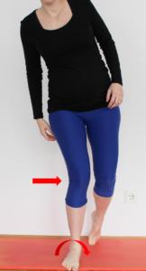 Patellaspitzensyndrom: Valgus Knie Fußstabilität