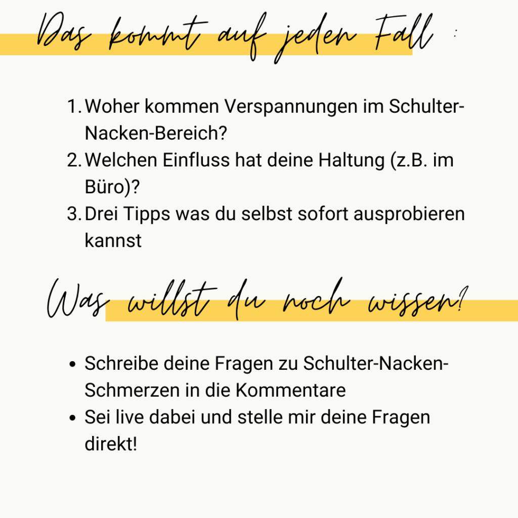 Instagram Live: Schulter-Nacken-Schmerzen Inhalt