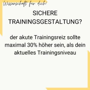 Sichere Trainingsgestaltung