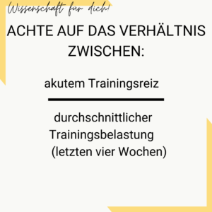 Verhältnis Trainingsreiz zu Leistungsniveau