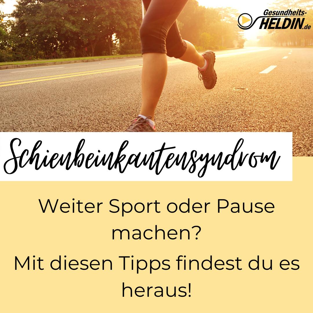 Read more about the article Schienbeinkantensyndrom Sportpause oder weitermachen