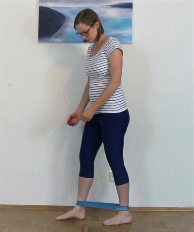 Schmerzen Achillessehne: Mobilisation Dorsalextension Anfangsposition