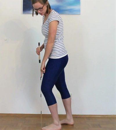 Schmerzen Achillessehne: Test Dorsalextension gebeugtes Kniegelenk