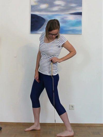 Schmerzen Achillessehne: Test Dorsalextension gestrecktes Kniegelenk