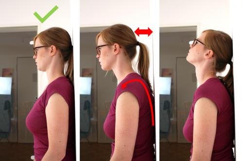 Test bei Schulterschmerzen: Occiput-to-wall