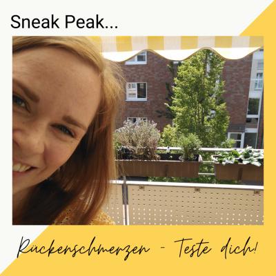 Sneak Peek neues Video Rückenschmerzen