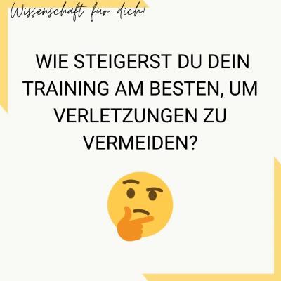Studie Verletzungsrisiko Trainingsreiz